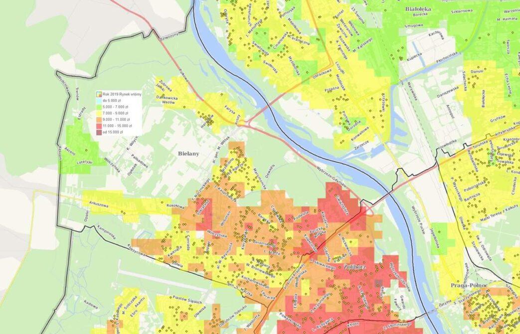 Dzielnice Warszawy: Bielany - mieszkania i ceny
